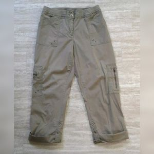 Chico's Cargo Capri Cropped Pants Casual Stretch 5